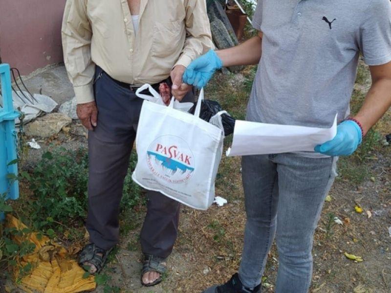 Pamukkale ve Merkezefendi Kaymakamlığı PASVAK işbirliği ile 700 aileye yardım ulaştırdı